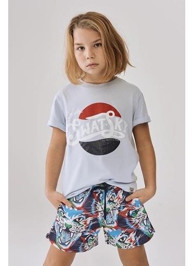Swatsky Erkek Çocuk Mavi T-Shirt Mavi